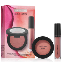 Gen Nude Rosy Days Set = Powder Blush On the Mauve 6 g + Matte Liquid Lipcolor Friendship 4 ml