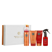 The Ritual of Happy Buddha Energising Treat = Shower 50 ml + Cream 70 ml + Scrub 70 ml + Parfum 50 ml