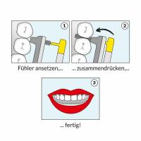 Wingbrush Ersatz-Aufsätze 6er-Set S gelb
