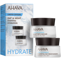 Ahava Time to Hydrate Day & Night Essential Hydration Kit = Essential Day Moisturizer + Night Replenisher 2Artikel im Set