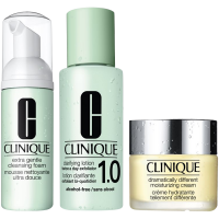 Extra Gentle Intro Kit = Clarifying Lotion 1 + Dramatically Different Moisturizing Cream + Sonic System Extra Gentle Cleansing Foam