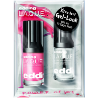 P.O.W.E.R. of Joy Set = Nail Lacquer Funky Flamingo + Gel-Look Top Coat