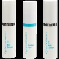 Set = Day Collagen + Night Collagen + Exfoliant Fluid
