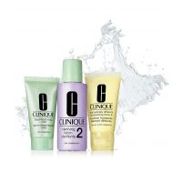 3-Step Skin Care System Set Hauttyp 2 =  Liquid Facial Soap + Clarifying Lotion 2 + DDML