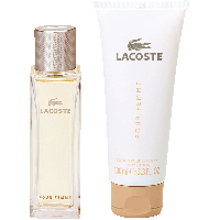 Lacoste Pour Femme Set = E.d.P. Nat. Spray + Body Lotion 2Artikel im Set