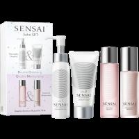Sensai Saho Set = Silky Purifying Cleansing Oil Step 1 + Creamy Soap Step 2 + Cellular Performance Lotion II (Moist) + Emulsion II (Moist) 4 Artikel im Set