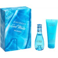 Cool Water Woman Set = E.d.T. Nat. Spray + Body Lotion