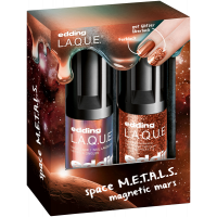 edding L.A.Q.U.E. Space M.E.T.A.L.S. Set = Magnetic Mars + Supreme Stardust 2Artikel im Set