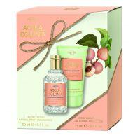White Peach & Coriander Duo Set =  E.d.C. Nat. Spray + Aroma Shower Gel