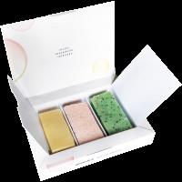 Mini Seifen Set = Honig & Bienenwachs 15g + Kakaobutter & Macadamia-Öl 15 g + Meersalz & Sheabutter 15 g