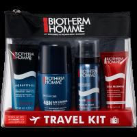 Biotherm Homme Total Recharge Travel Kit = Total Recharge Hydrat.Non-Stop + Day Control 48H Anti-Transpirant R-On + Mousse de Rasage + Aquafitness Gel Douche 4Artikel im Set