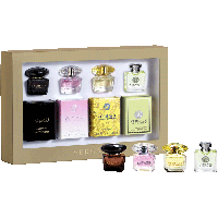Damen Miniaturen Set = Crystal Noir EdT + Bright Crystal EdT + Yellow Diamond EdT + Versense EdT