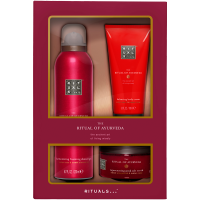 Rituals The Ritual of Ayurveda Discovery Set = Foaming Shower Gel 200 ml + Body Scrub 125 g + Body Cream 100 ml 3Artikel im Set