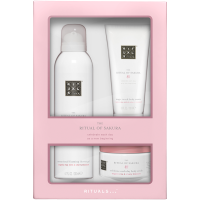 Rituals The Ritual of Sakura Discovery Set = Zensational Foaming Shower Gel 200 ml + Body Scrub 125 g + Body Cream 100 ml 3Artikel im Set