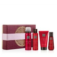 Rituals The Ritual of Ayurveda Balancing Treat Giftset = Foaming Shower Gel + Body Scrub + Body Cream + Hand Wash 4 Artikel im Set