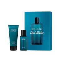 Cool Water Xmas Set = E.d.T. Nat. Spray  40 ml + Shower Gel 75 ml