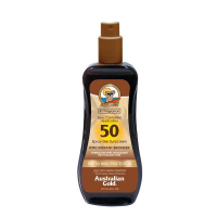 SPF 50 Spray Gel Sunscreen with Instant Bronzer