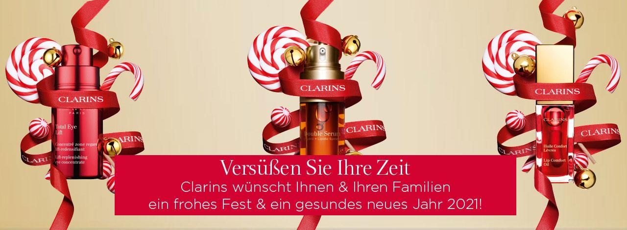 Merry XMAS wünscht Clarins!