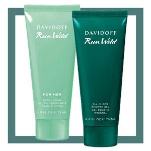 Gratis Davidoff Run Wild Bodylotion oder Duschgel