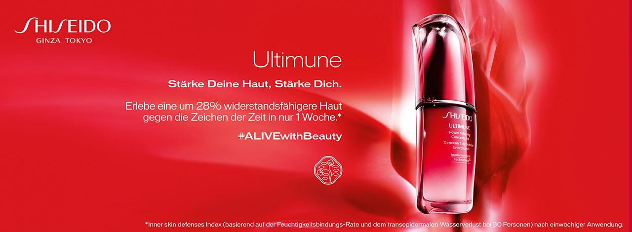 Shiseido Ultimune Gesichtspflege bei Schuback